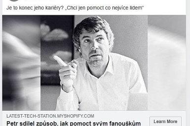 Kellner obětí podvodu: Podnikatel Petr Kellner se objevuje vpodvodných reklamách naFacebooku.