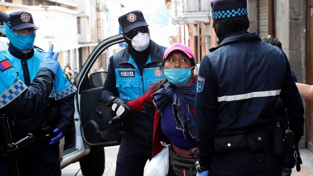 Ekvádor, policie, koronavirus