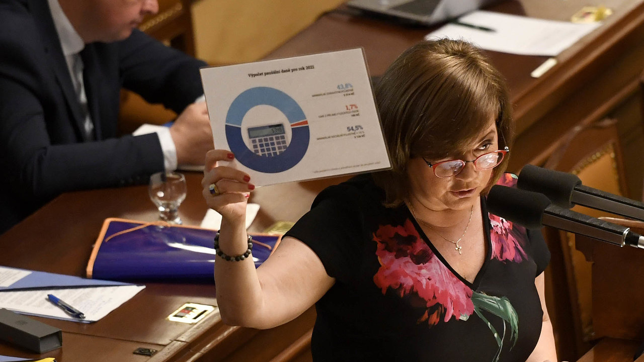 Jediná cesta: Podle ministryně financí Aleny Schillerové (zaANO) je vpřípadě zrušení superhrubé mzdy progresivní daň jedinou možností.