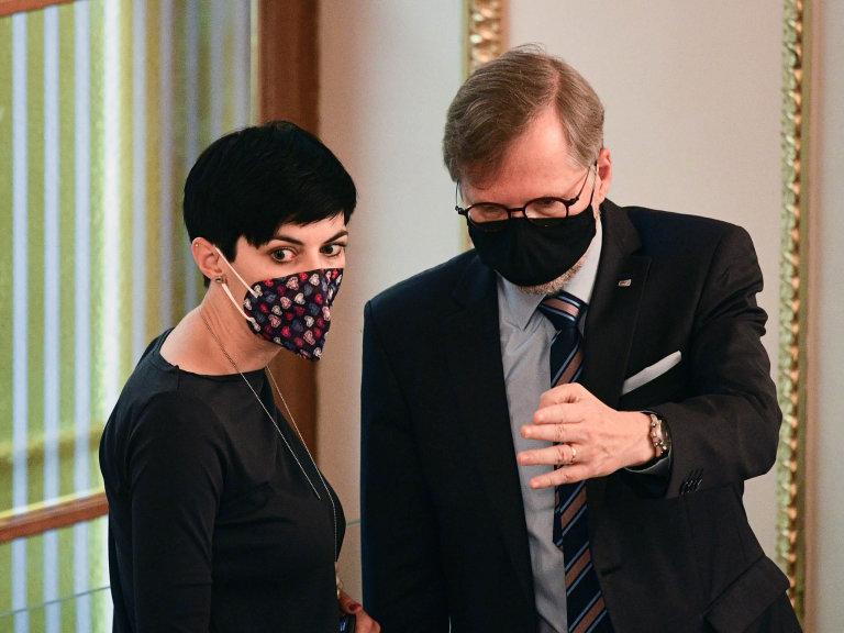 Spojenci předvolbami: Předsedkyně TOP09 Markéta Pekarová Adamová ašéf ODS Petr Fiala chystají spolupráci pro podzimní volby dosněmovny.