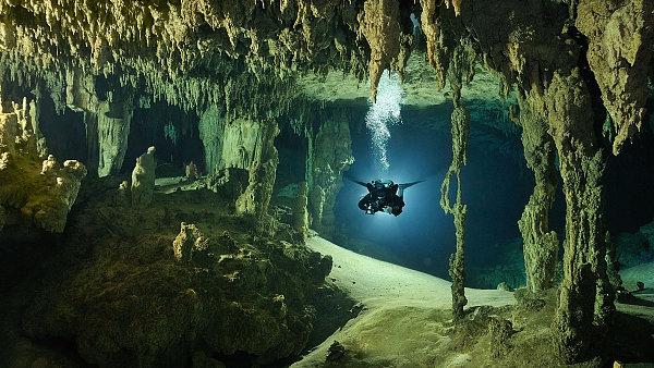 Jeskynn� syst�m K�oox Baal, Mexiko