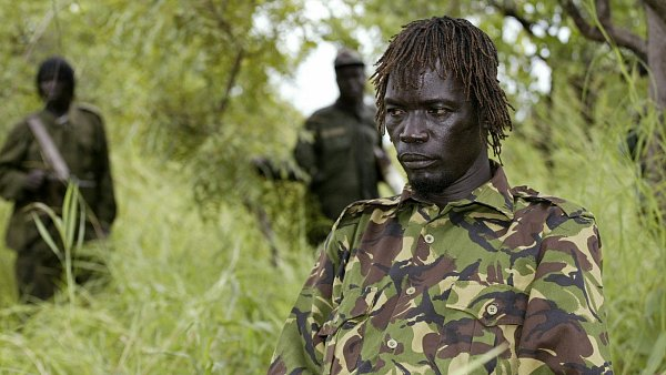 Zadržený velitel agandské Armády božího odporu (LRA) Caesar Achellam
