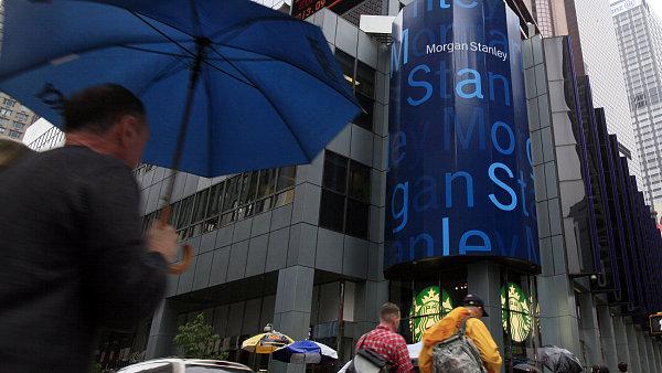 Bance Morgan Stanley vzrostl čtvrtletní zisk o 74 procent.