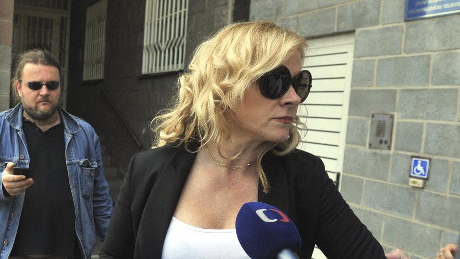 Jana Nagyová po propuštění z vazební věznice