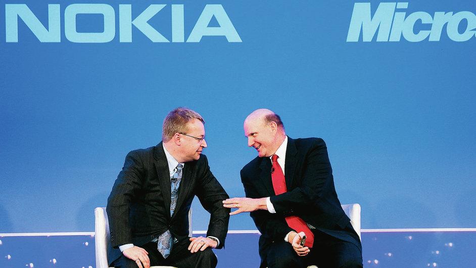 Šéfové Nokia a Microsoftu