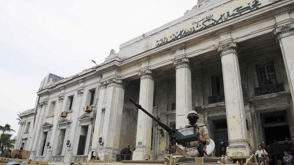 Sídlo jednoho ze soudů v Egyptě - Ilustrační foto.