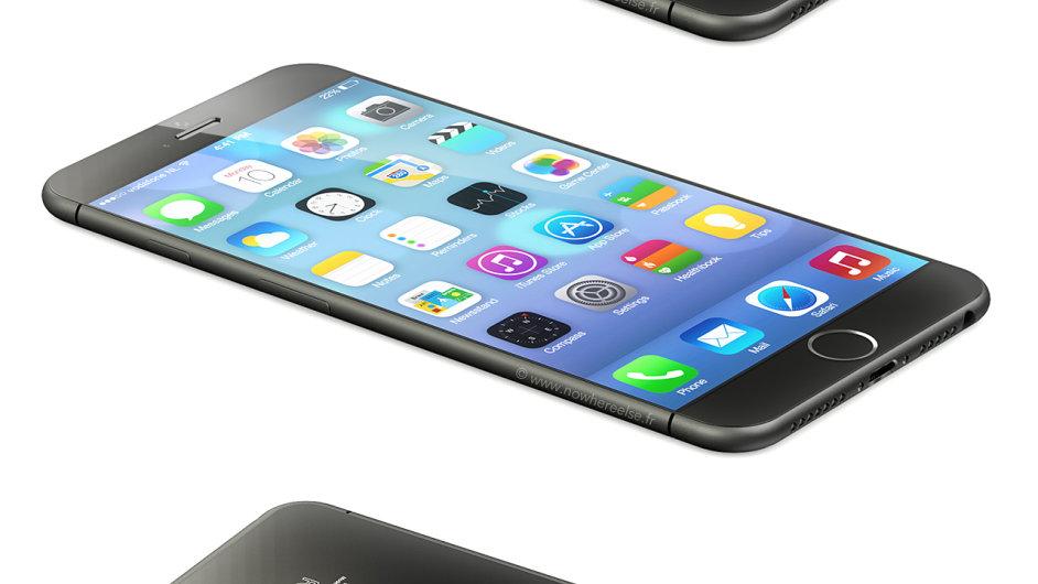 Vizualiazce iPhonu 6 podle uniklých nákresů