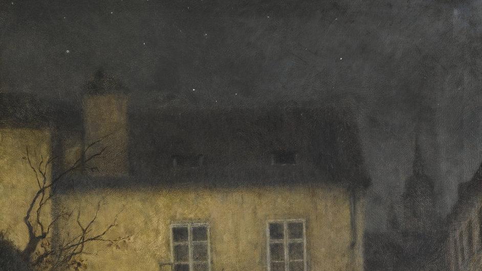Schikanederův obraz Zákoutí Prahy se bude dražit v Londýně.