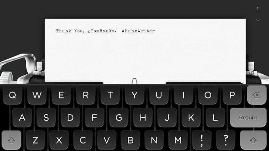 Aplikace Hanx Writer pro iPady - ilustrační foto