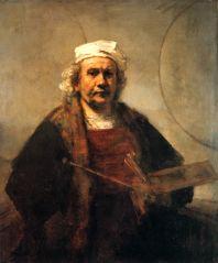 Na výstavě bude i Rembrandtův Autoportrét s dvěma kruhy.