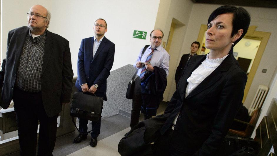Bývalý soudce Ondřej Havlín přichází k jednání u Okresního soudu v Kladně - Ilustrační foto.