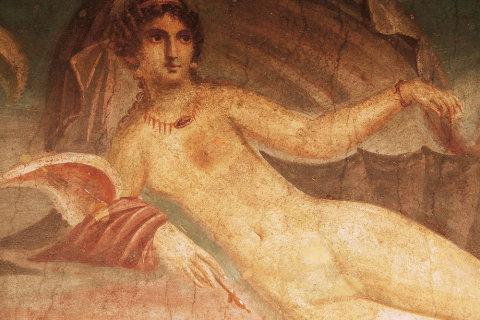 Domy v Pompejích jsou vyzdobené nádhernými freskami, řada z nich obsahuje erotické či pornografické motivy.