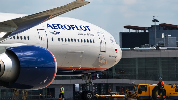 Letadlo rusk� leteck� spole�nosti Aeroflot.