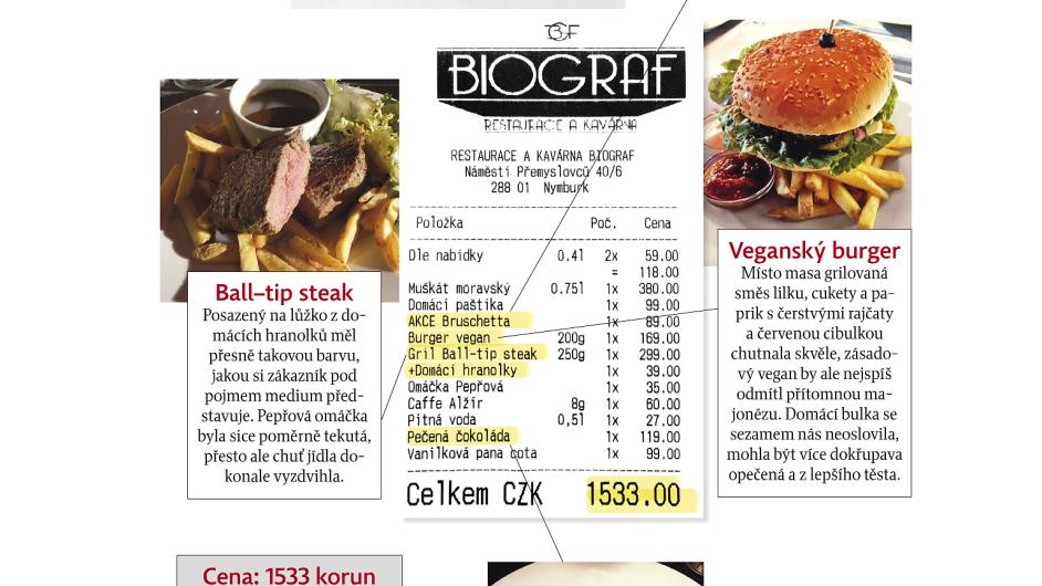 V nymburské restauraci Biograf servírují vše, na co si vzpomenete.