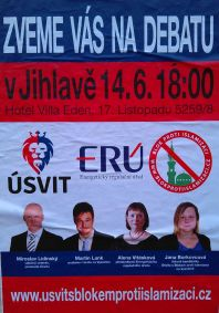 Plakát k akci Vitásková a Blok proti islamizaci
