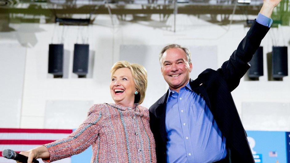 Clintonová a Kaine 2016