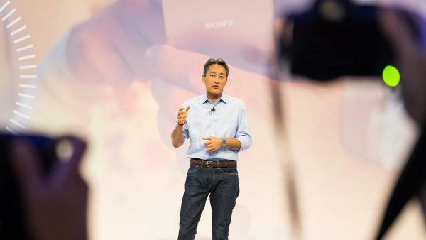 Výkonný ředitel Sony Corporation Kaz Hirai na veletrhu IFA