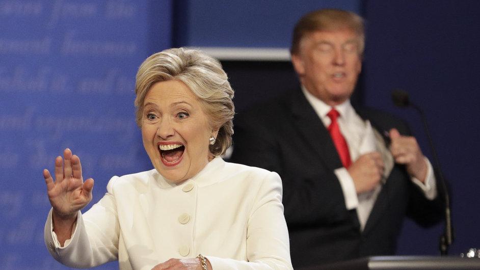 Hillary Clintonová a Donald Trump na poslední debatě před volbami.