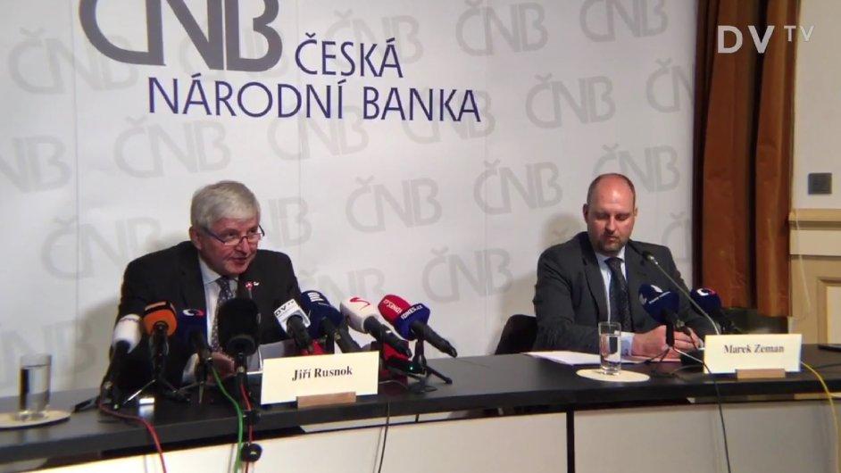 Tisková konference ČNB.