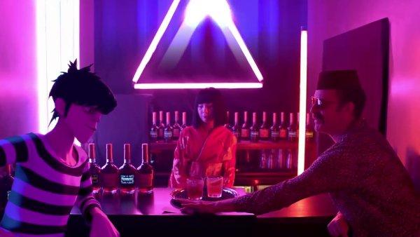 Snímek z nového videoklipu kapely Gorillaz.