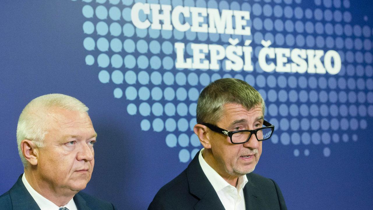 Šéf a jeho zástupce: Andrej Babiš ajeho pravá ruka Jaroslav Faltýnek.