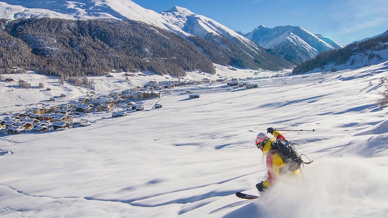 V lyžařské oblasti Livigno na severu Itálie si můžete užívat freeride.