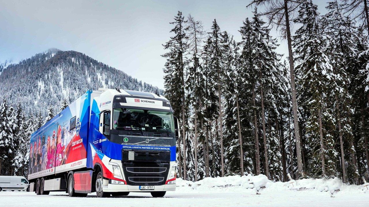 Biatlonový kamion DB Schenker