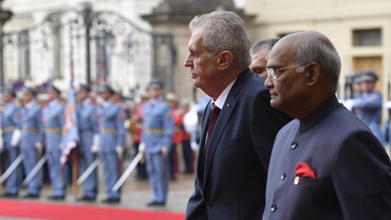 Indický prezident Rám Náth Kóvind je na oficiální návštěvě Česka.