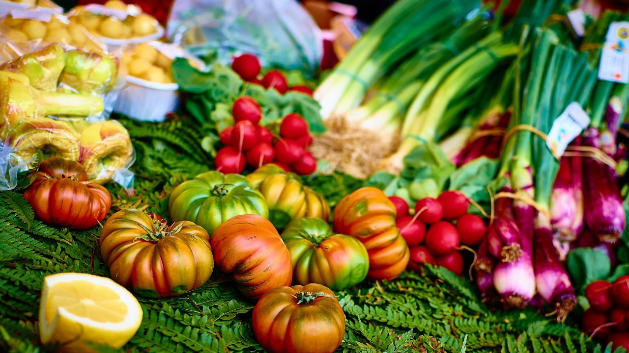 vegetarián, zelenina, jídlo