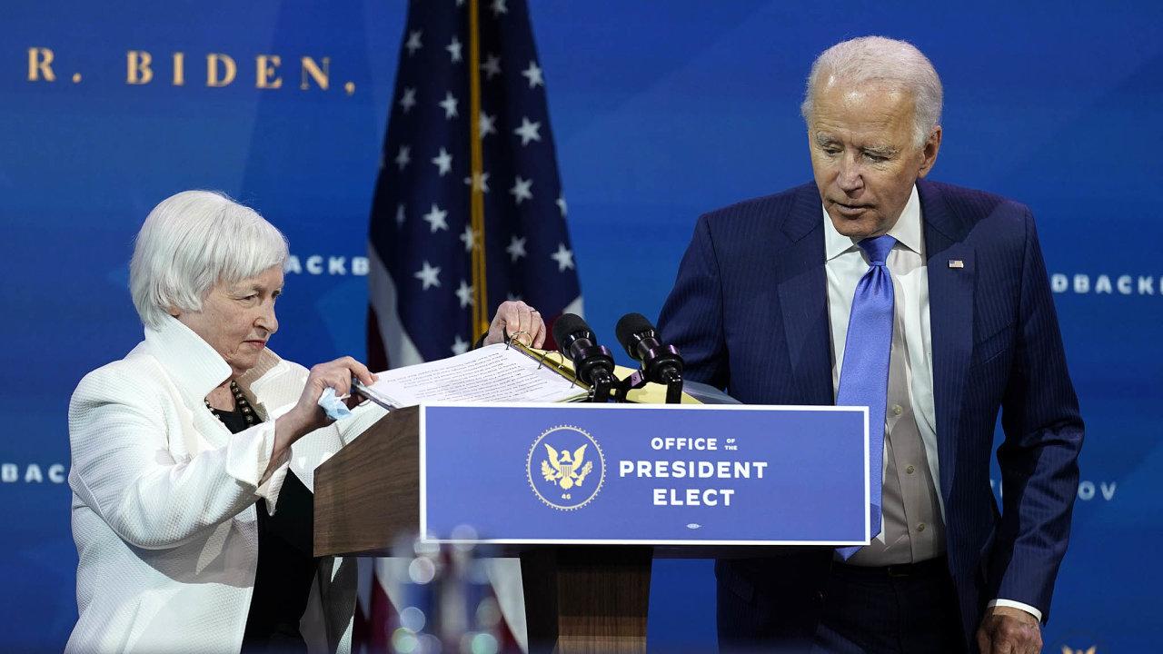 Pomoc ekonomice: Bidenovi má pomoci s restartem ekonomiky jako ministryně financí Janet Yellenová, bývalá šéfka centrální banky (Fed).