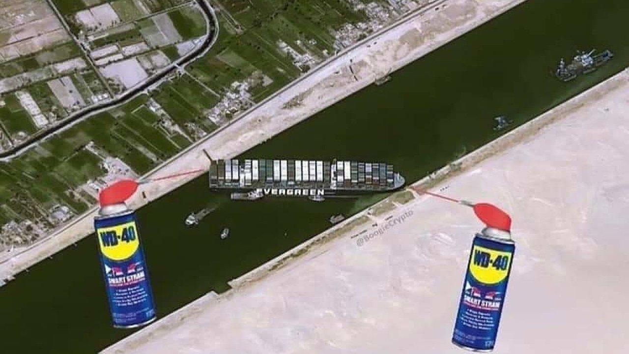 Vtipy Suezský průplav 2021
