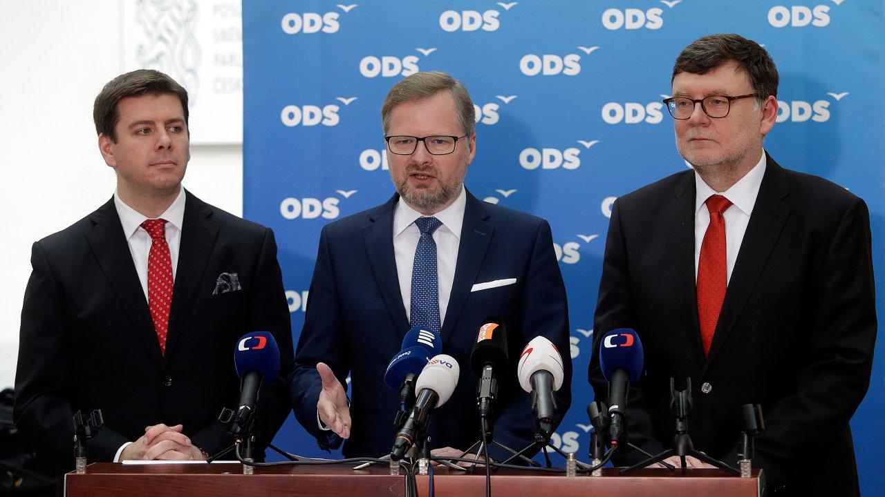 Příští ministr financí? Za koalici Spolu kandidátem nakonec zřejmě nebude dlouholetý ekonomický expert ODS Jan Skopeček (vlevo), ale první místopředseda Zbyněk Stanjura (vpravo).