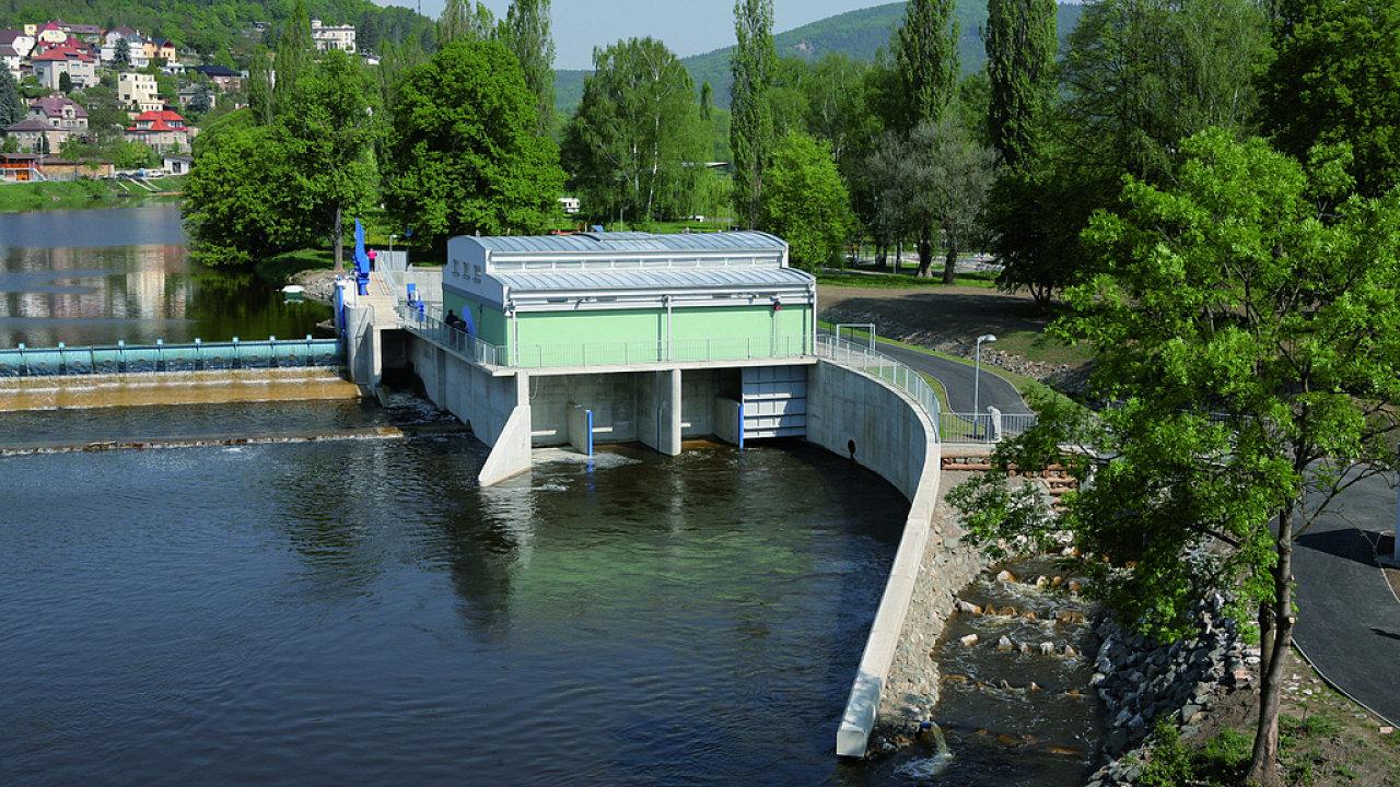 3. Malá vodní elektrárna a rybí přechod Beroun