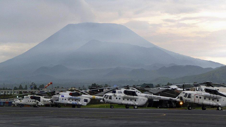 Letiště ve městě Goma