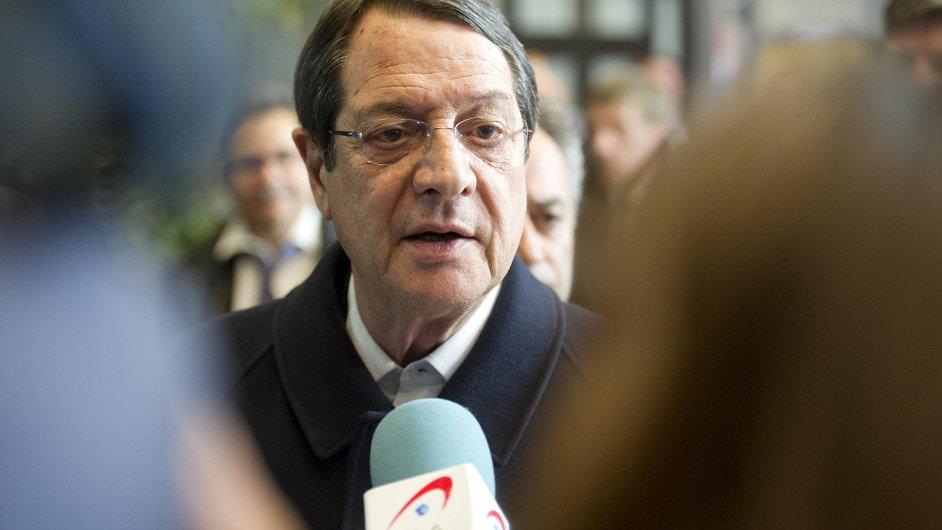 Kyperský prezident Nikos Anastasiadis.