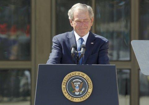 George W. Bush na otevření prezidentské střediska v Dallasu pojmenovaném po něm