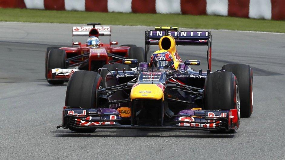 Red Bull Marka Webbera na okruhu v Kanadě