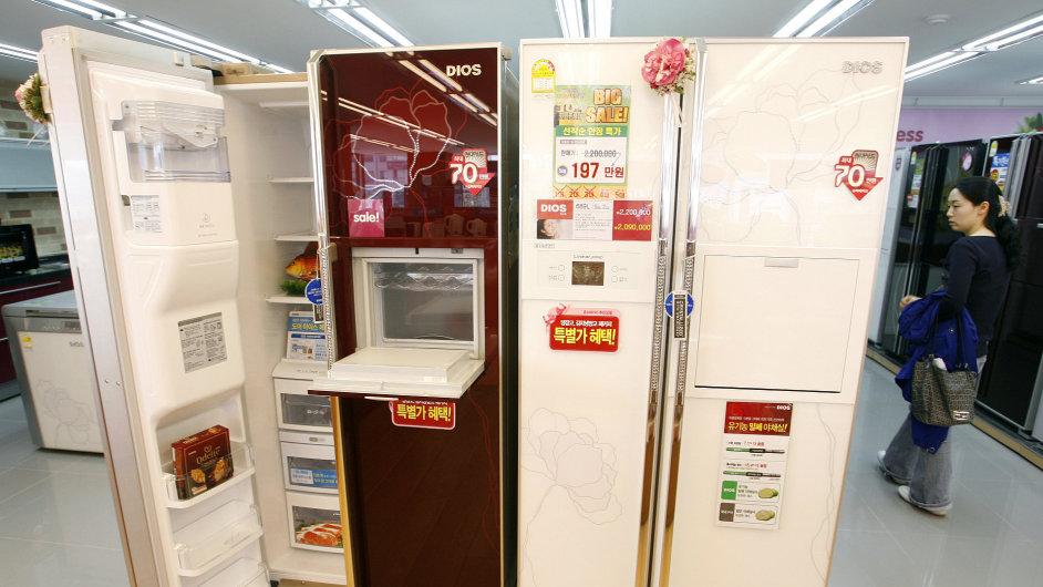 V jihokorejském obchodě s domácími spotřebiči, ilustrační foto
