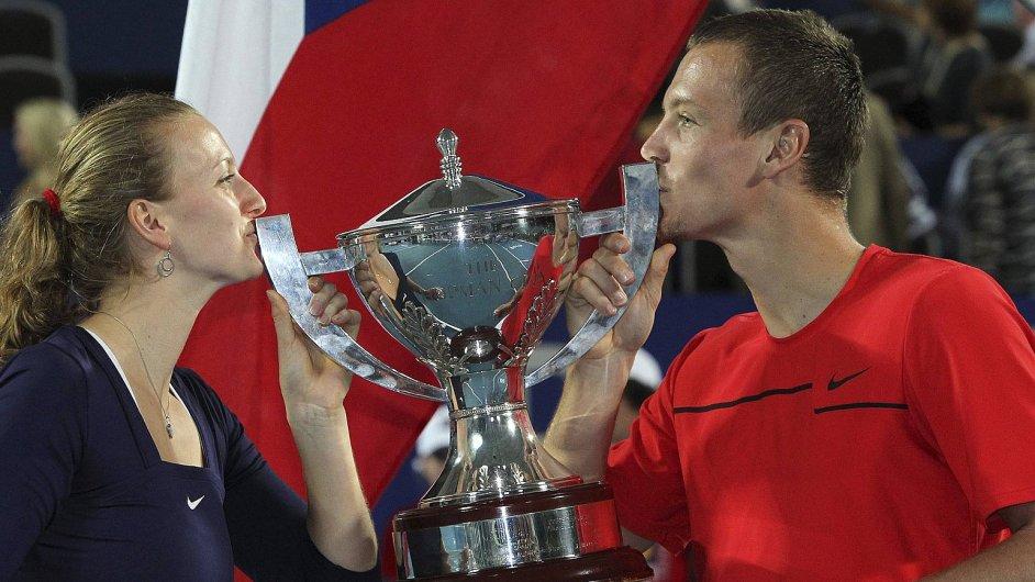Petra Kvitová a Tomáš Berdych