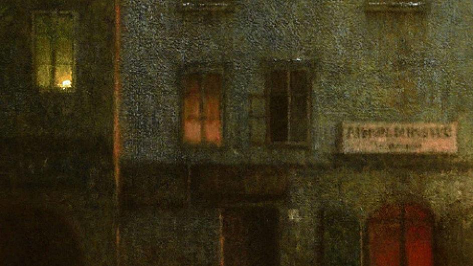 Podobně jako malíř Jakub Schikaneder vyhledával Rilke stíny rozprostírající se mimo dosah společenského lesku. (Na reprodukci malba Schikanedera nazvaná Ulice navečer z roku 1906.)