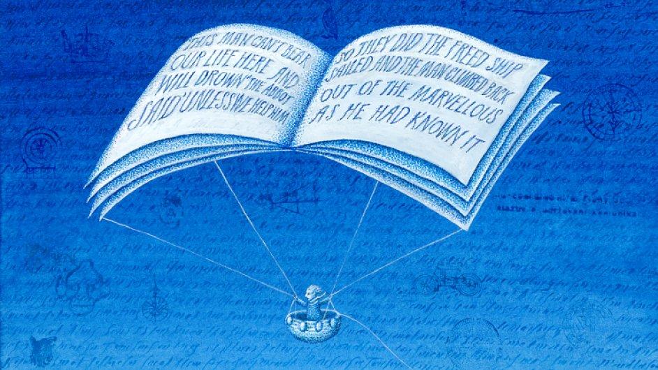Kresba Petra Síse nazvaná Out of the Marvellous, podle níž gobelín vzniká.