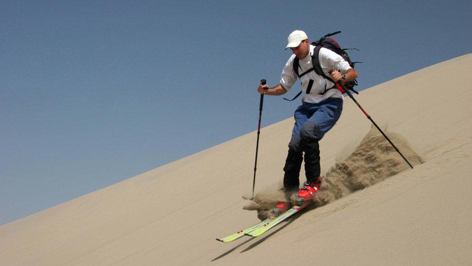 Lyžování v dunách