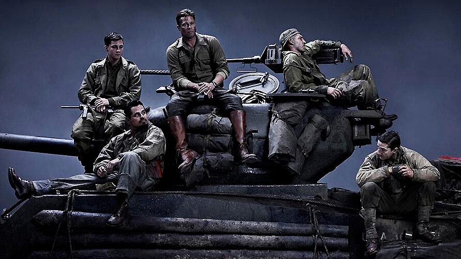 Tankový film Fury s Bradem Pittem stál 1,6 miliardy.