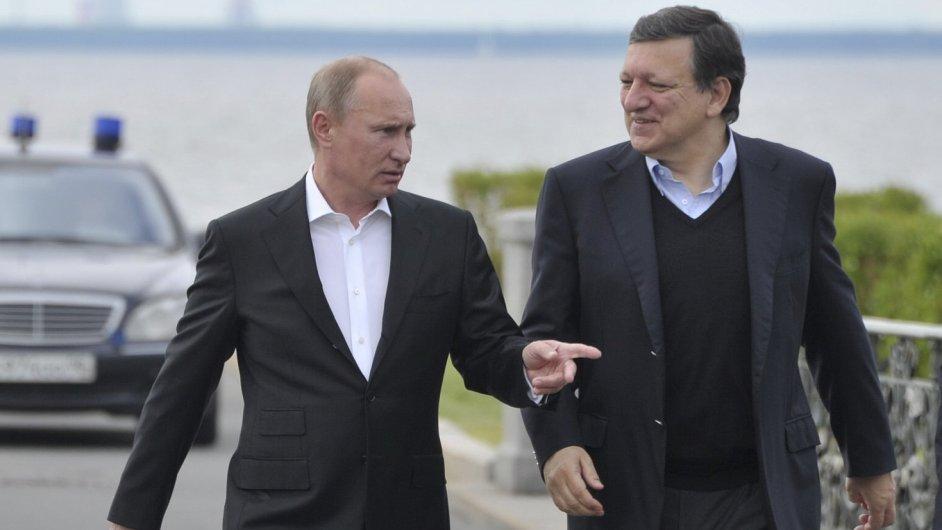 Putin a Barroso před dvěma lety na summitu Rusko-EU