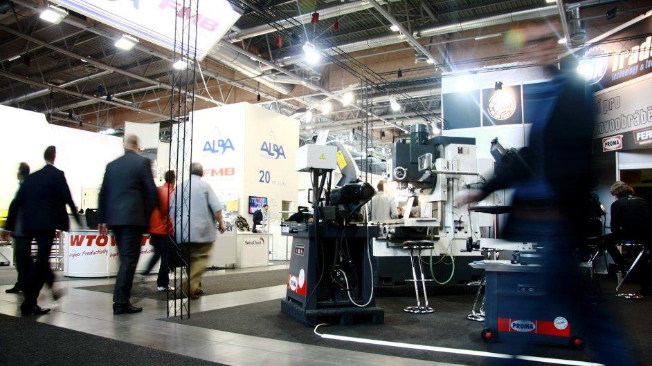 Jeden z exponátů na Mezinárodním strojírenském veletrhu v Brně