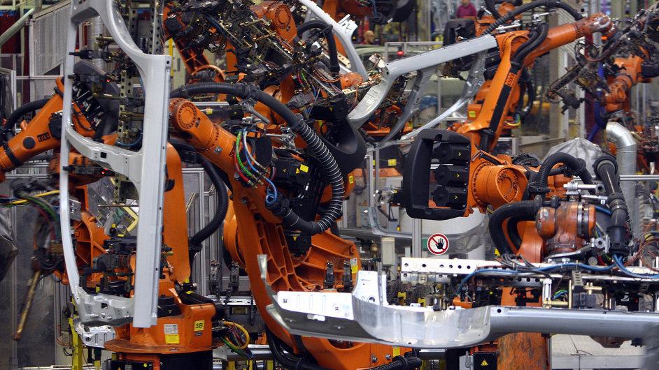 Počítači řízená výroba v automobilce Škoda - Ilustrační foto