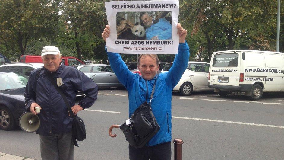 demonstrace, Nymburk, Azos