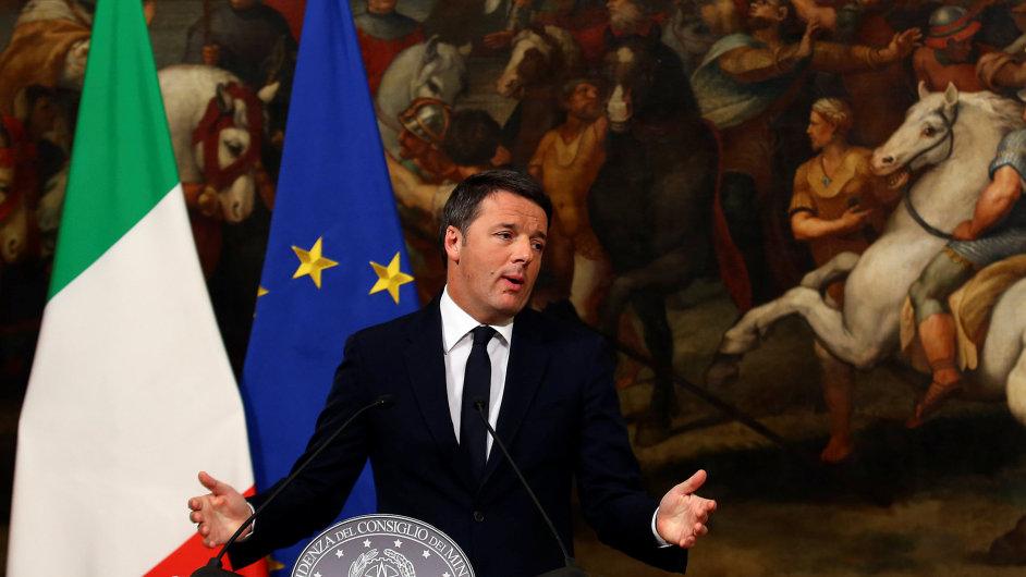 Italský premiér Matteo Renzi.