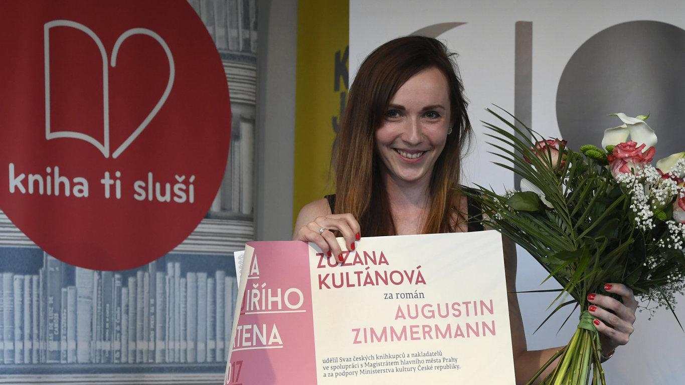 Zuzana Kultánová ve čtvrtek večer na Světu knihy převzala Cenu Jiřího Ortena.