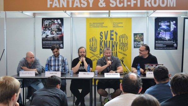 Na snímku zleva jsou Zdeněk Velen, Radek Volf, Míla Linc, Miroslav Žamboch a Jiří Walker Procházka.